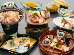 オテル・ド・マロニエ下呂温泉:【お料理】飛騨路会席~仕入れ状況により内容が変わります。