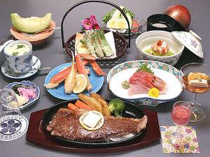 和牛ステーキ付会席一例(春)☆献立は仕入れ等により変わります。
