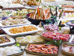 きぬ川ホテル三日月:和洋中約60種の品揃え!夕食バイキング一例