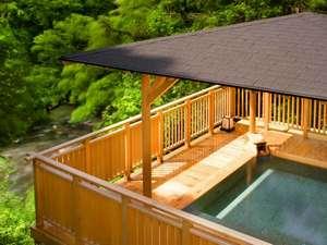 吉祥やまなか:豊かな自然の癒しを感じる「白鷺の湯」。天然温泉&森林浴で、お肌もココロもしっとり