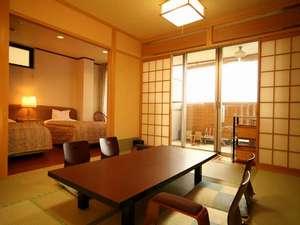 【お部屋】露天風呂付和洋室/和室10畳+ツイン/6名様迄