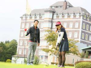 ウェルネスの森 那須:☆25那須ゴルフガーデン☆ホテル正面には広々としたゴルフ場が広がります。