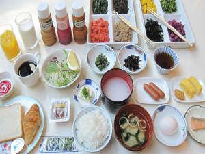 赤穂ロイヤルホテル:和朝食セルフサービスです。前日予約制です 朝7時から9時