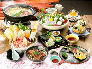 有田川温泉 鮎茶屋 ホテルサンシャイン:有田の恵みをふんだんに使った『グルメ夏会席料理』