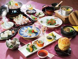 有田川温泉 鮎茶屋 ホテルサンシャイン:天然九絵(クエ)会席料理