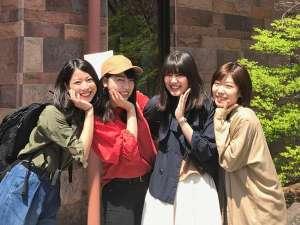 那須オオシマフォーラム:【グループ旅行にも♪】広い和室は、グループ旅行にピッタリ!キュートなポーズですね☆