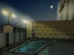 ホテルニュータナカ:屋上露天風呂「月下の湯」時間帯によって違った雰囲気が味わえ、天気の良い夜には星空が一望出来ます。