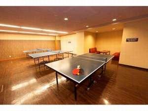 大江戸温泉物語 山代温泉 加賀の本陣 山下家:2F 卓球コーナーは無料でご利用頂けます☆