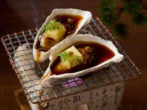 大江戸温泉物語 山代温泉 加賀の本陣 山下家:牡蠣の殻焼