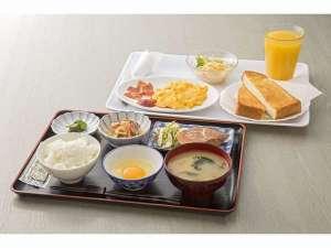 ナンバプラザホテル:朝食(和食・洋食からお選び下さい)