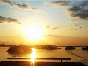 松島温泉 元湯 ホテル海風土:ホテル海風土からの日の出