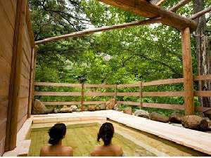 夏油温泉観光ホテル:ブナ林露天風呂4