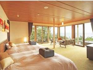 別邸 海と森:VILLA瑞鶴荘【月汐】コーナーのお部屋になります