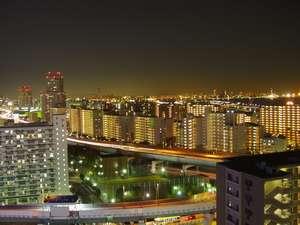 神戸三宮ユニオンホテル:15階以上プランの上層階の客室から見える夜景(東南側)★日本新三大夜景の一つに選出。