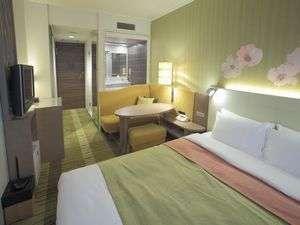 吉祥寺第一ホテル:ダブルルームベッド幅160cm