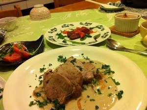 帯広八千代ユースホステル:ある日の夕食