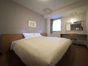 【盛岡シティホテル】盛岡駅徒歩2分×無料軽朝食:【ダブルルーム】21平米/ベッド幅200cmキングベッドを備えた1番大きなお部屋。