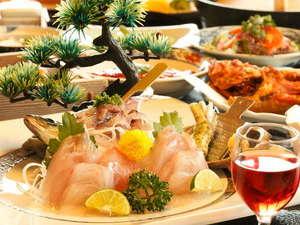 味湯海亭 福松荘:お部屋で頂く夕食