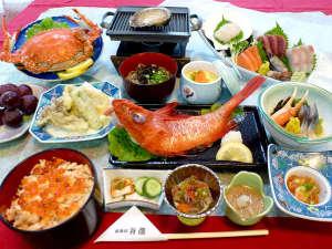 湖四季の宿 弁慶:湖四季味わい尽くしプラン(夕食)の一例です。