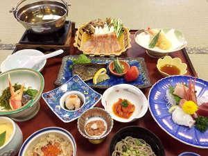 湖四季の宿 弁慶:週末・平日プラン夕食一例(金目鯛しゃぶしゃぶ付)