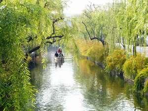 美観地区の川舟流し