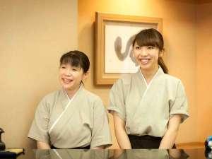 【スタッフ】お客様に来てよかったよ!とおっしゃっていただけるよう、明るい笑顔でお迎えします。
