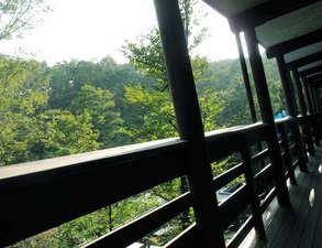 西絆荘:2階ベランダよりの眺望