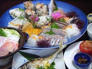 旅館田の浦温泉:田の浦漁師の海席料理の一例