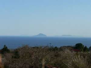 当館から見える伊豆の島々