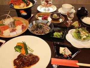 大好評!!オーナーおすすめの地元伊勢エビの洋風茶碗蒸し付き和洋折衷料理(イメージ)