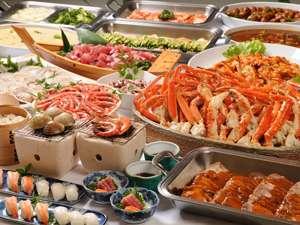 ライズリゾート:豊富な夕食バイキングイメージ♪(蟹は1人3本程)