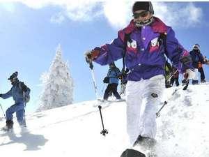 乗鞍高原 温泉の宿やまみ:冬の美しい乗鞍を楽しむならスノーシューがオススメ!普段見ることができない、景色が広がっています。
