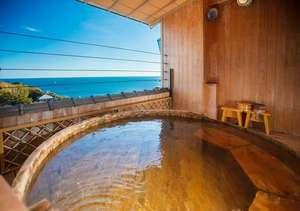 新鮮を食べる湯宿 大田家:太平洋を独り占め♪展望貸切露天風呂