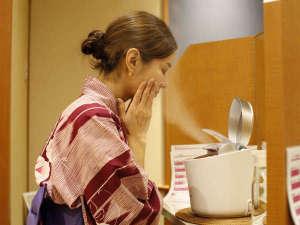「美人の湯」とも言われる道後の湯&顔湯のスチームで美肌満喫♪(3階大浴場前).