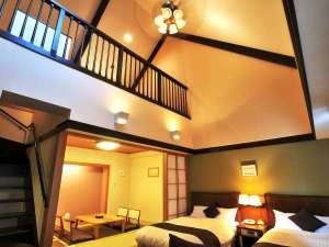 マウレ山荘:【温泉付特別室】 1階部分には、ツインベットと和室があります。