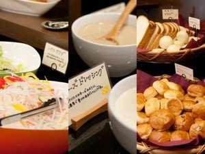スーパーホテルJR池袋西口:健康無料朝食♪ごはん、パン・サラダ・ドリンクが食べ放題で無料です!