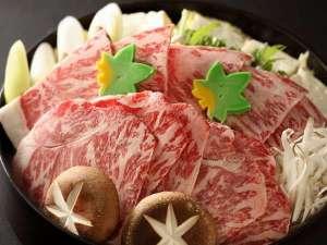 いかほ秀水園:上州牛すきやき写真は2人前の盛込みとなります。通常は1人前づつの提供となります。
