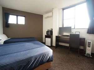 ホテルリブマックス群馬沼田:ツインルーム。2人でお得に泊まるならこのお部屋で決まり!喫煙・禁煙共にあり!