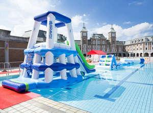神戸ホテル フルーツ・フラワー:【夏限定】大好評水上アスレチック!大人も子供も大喜び