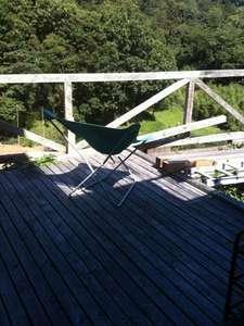 ミネハウス:ウッドデッキは、2016年11月に屋根が付きました。