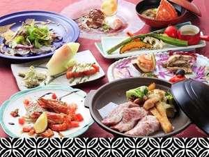 犬御殿 箱根仙石原温泉 森のあかり:和牛の陶板焼き&本日のお魚料理も!両方お召し上がりくださいませ。