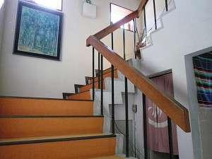 民宿 のあ:お部屋に続く階段