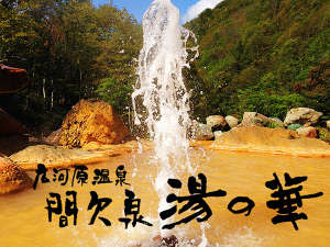 広河原温泉 間欠泉 湯の華