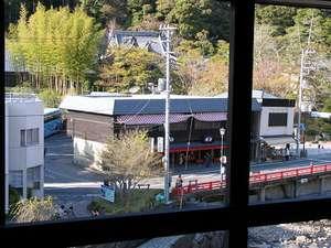 部屋から見た景色です修禅寺のお寺も見えます
