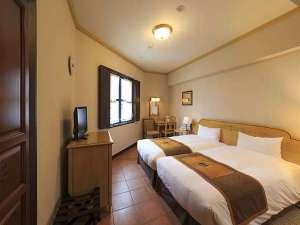 ホテルモントレ長崎:コーナーツインは、2台のベッドが密着しているハリウッドツインです。