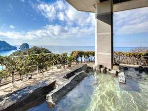 堂ヶ島 ニュー銀水:【露天風呂】海風・潮騒・潮の香りを感じながら浸かる天然温泉