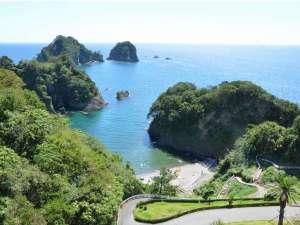 堂ヶ島 ニュー銀水:プライベートビーチの様な「つば沢海岸」ホテル目の前徒歩3分