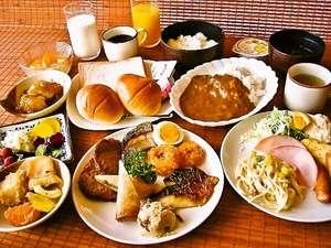 ホテル・アルファ-ワン三次:ご朝食バイキング(盛り付けイメージ)