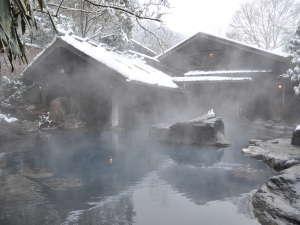 黒川温泉 やまびこ旅館:露天風呂で季節を感じてください。