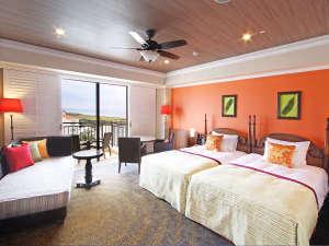 ホテル日航アリビラ:プレミアツイン・プレミアオーシャンパティオツイン 43平米